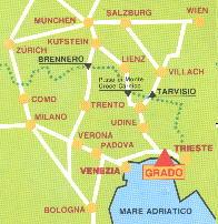 Karte von Grado Italien
